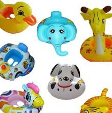 Cute animal design kids swim ring / animal shape swim rings / inflatable swim ring