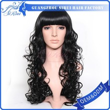 Alibaba express factory direct sell Japanese kanekalon hair wigs, high tempreture synthetic wigs