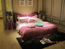 Modern rose red fabric bed frame new deisgn home beds