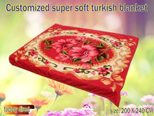 100% polyester super soft customized raschel turkish blanket quick delivery