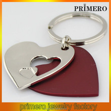 PRIMERO Top QUALITY New Design Fashion heart charm design to make your own keychain heart to heart keychain