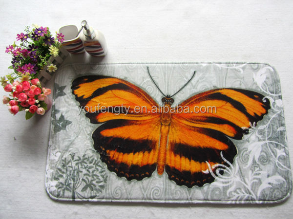 butterfly design printed bathroom rug buy bathroom rug