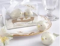 Mini bird Groom ceramic Salt And Pepper Shaker Wedding Gifts