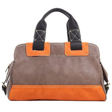 HOT Brand Designer Striped Shoulder Bags PU Leather Women Shopper Handbags