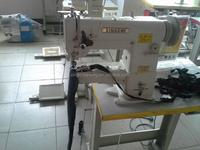 juki single needle cylinder arm triple feed industrial leather sewing machine