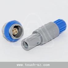 4 pin redel plastic circular push-pull latching tent plastic connector