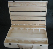 Wooden Wine Bottle Packaging Box, Custom Made Special Effects Printing Packaging Box Manufacturer