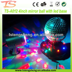 Xmas decoration table top electric mirrored ball with R/G/B led lights