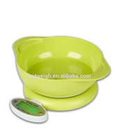 Functional and fashional dismoun table 5kg New Cheap ABS Plastic Diet Scale with bowl