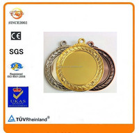 factory wholesale gold silver copper custom metal blank wreath rope sports medal