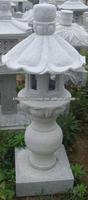 GGL397 Stone Lotus Flower Lantern