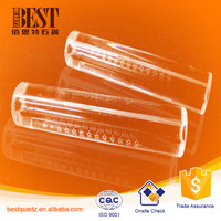 Ozone generator quartz tube, solar vacuum tubes, glass tube open end