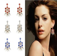 Europe and the United States hit a new diamond tassels eardrop of luxurious earrings