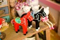 Zakka, los caballos de madera para la decoración del hogar, de madera de diseño creativo, c1440