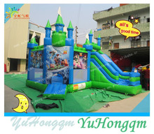 China cartoon characters new inflatables bounce castle slide for kids for sale