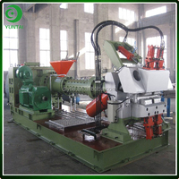 Model XJD-120X14D Pin Barrel Silicone Rubber Extruder Machine For Rubber Profiles Rubber Sheet Tire Tread Extrusion