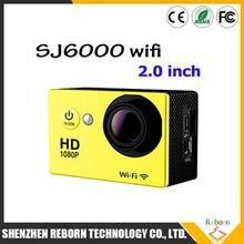 "New Sport Camera SJ6000 Style WIFI Action Camera 2.0""LCD Full HD 1080P Diving 30M Waterproof Sport DV Video Cam Model W9"