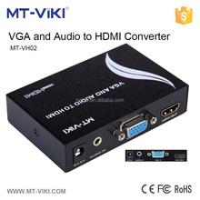MT-VIKI MT-VH02 hot sale compatible HDCP mini vga rca to hdmi converter