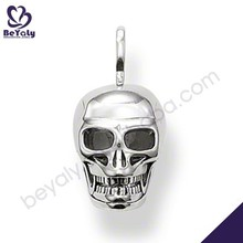 Shiny polish for men skull design silver pendant fashion