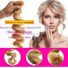Factory price wholesale human hair pre-bonded u tip hair extension, first class remy hair