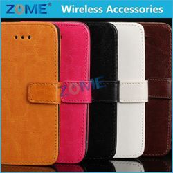 China Low Price Luxury Magnetic Mobile Phone Flip Cover Stand Wallet Leather Case/Cover For Iphone 5/5S /5C