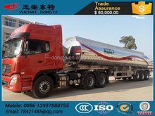 3 axles aluminum fuel tanker semi trailer with SGS certificate,DOT & SASO