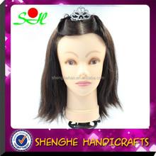 SH Ye Hot selling hairdressing training doll heads,Brand new 100% human hair training doll head