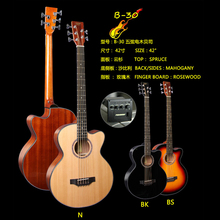 B30 5-strings guitare natural wood bass guitar with fishman equalizer