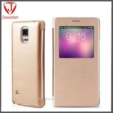 Wholesale Alibaba Front window with magnetic flip stand cover for samsung galaxy note 4