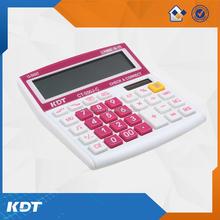 12 digits mini style desktop calculator with small solar panel power calculator