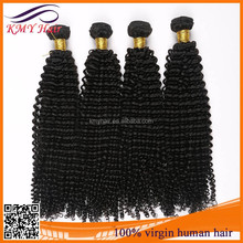 100% Natural color human kinky curly hair weave for black women