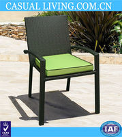 dining chair with arm durable resin wicke chair