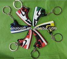 air jordan sneaker 3d keychains, running shoe key ring, air jordan 4 shoes