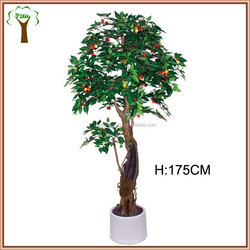 manufactured cherry fruits tree in twisty shape