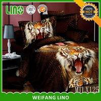animal bed clothes/bed sheet designs for wedding/duvet cover oriental