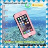 waterproof mobile case For iphone 6 hard plastic with Fingerprint