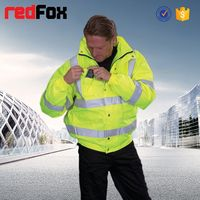 wholesale waterproof high visibility safety sample winter jacket