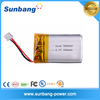 Hot sale good quality Li-ion polymer battery 502030 3.7v 250mah for audio player etc.