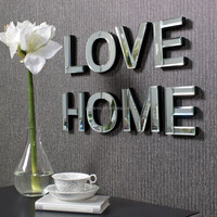 HWM10528 Art deco letters wall decorative mirror for home decorative