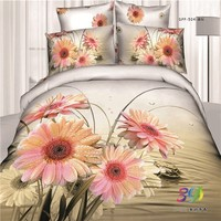china wholesaler Embroidered Fabric 100% cotton 3d bed covers