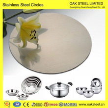 Factory Price Stainless Steel Circle 202 grade stainless steel circle