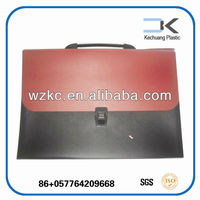 Manufacture portable expanding file with button and elastic closure