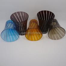 blue,purple,orange,copper red,brown,pink,black,white solid color horn unique shape glass tumbler