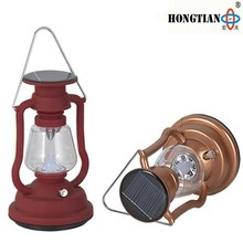 traditional style solar led camping lantern with hand crank