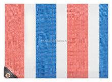 PP tarpaulin cover eyelets,black corner and rope