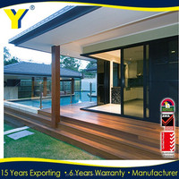 China Supplier Australian standards Aluminum sliding Doors/sliding barn door hardware kits/AS2047,NZS2208,/