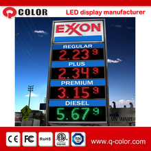 outdoor ultra brightness 4 digit 7 segment display for gas price led sign