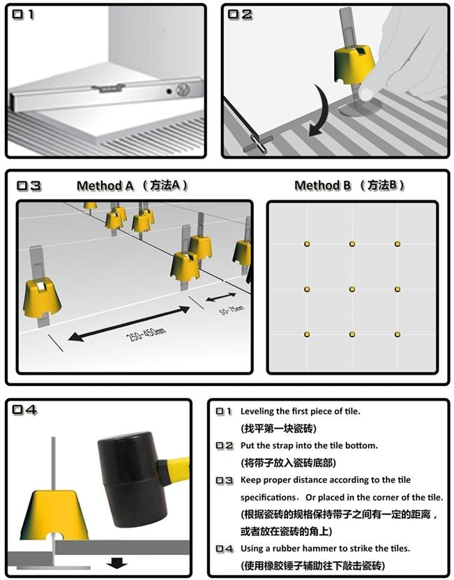 Tile Leveling System Tile Accessory Type Easy Tile Level System Sgl3