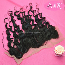 A&R Best Quality Silk Lace Brazilian Deep Wave Closure Wholesale Price Brazilian Curly Closure