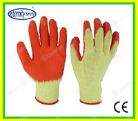 double coated on the fingertip Nylon/polyester natural latex coated glove